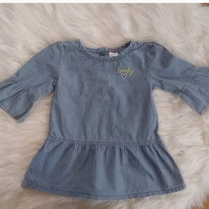 Carter's Bell Sleeve Chambray Top